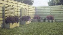 Gartenzaun WAMPIR 120x45x30cm