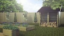 Blumenkasten 6-Eck 36x100x40cm