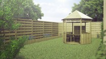 Gartenlaube 5,85m² 300x261cm