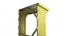 Brennholzregal mit Boden 180x73cm