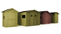Gartenhaus mit Boden MIKRO 1,21m² 150x150cm