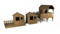 Kinderhaus MAGIC 1,72m² 136x127cm