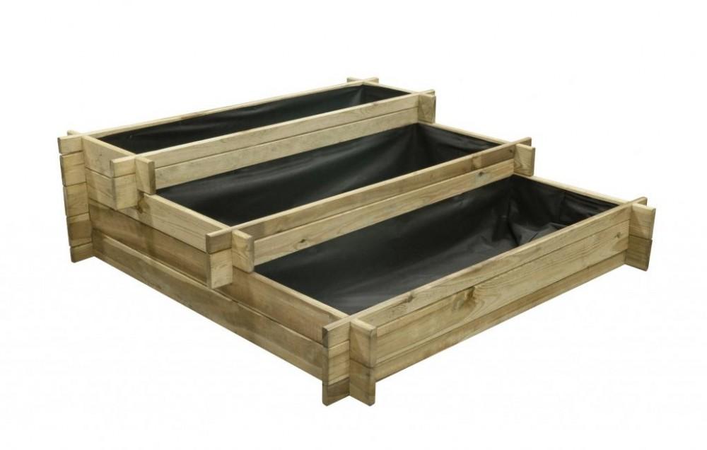 Hochbeete aus Holz 120x120x36cm