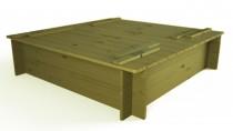 Sandkasten mit Abdeckung 120x29x120cm
