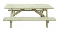 Picknicktisch aus Holz 73x180x130cm