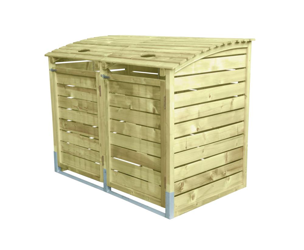 m lltonnenbox holz 156x122x94 m llbox m llcontainer. Black Bedroom Furniture Sets. Home Design Ideas