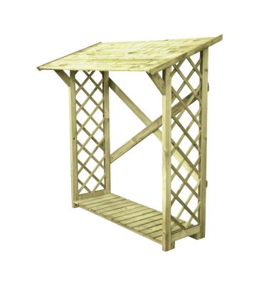 Brennholzregal mit Boden und Gitter 180x80cm