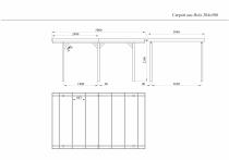 Carport 9,8m² 304x500cm