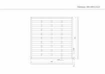 Sichtschutzzaun 180x180x3,5x4,5cm
