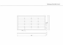 Sichtschutzzaun 90x180x3,5x4,5cm