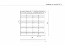 Sichtschutzzaun V 180x180x3,5x3,5cm