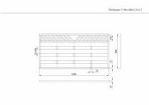 Sichtschutzzaun 90x180x3,5x3,5cm