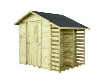 Gartenhaus mit Brennholzregal MASTER 2,9m² 259x213cm