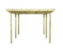 Carport Holz 9,8m² 304x500cm