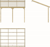 Carport Holz 12m² 400x300cm