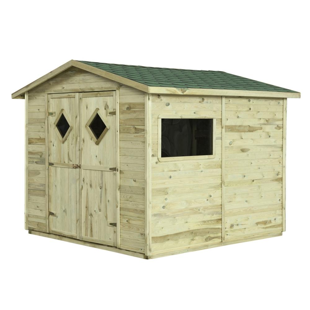 Gartenhaus Holz mit Boden MAXI 5m² 264x262 Geräteschuppen