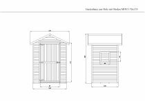 Gartenhaus Holz mit Boden MINI 1,54m² 176x153cm