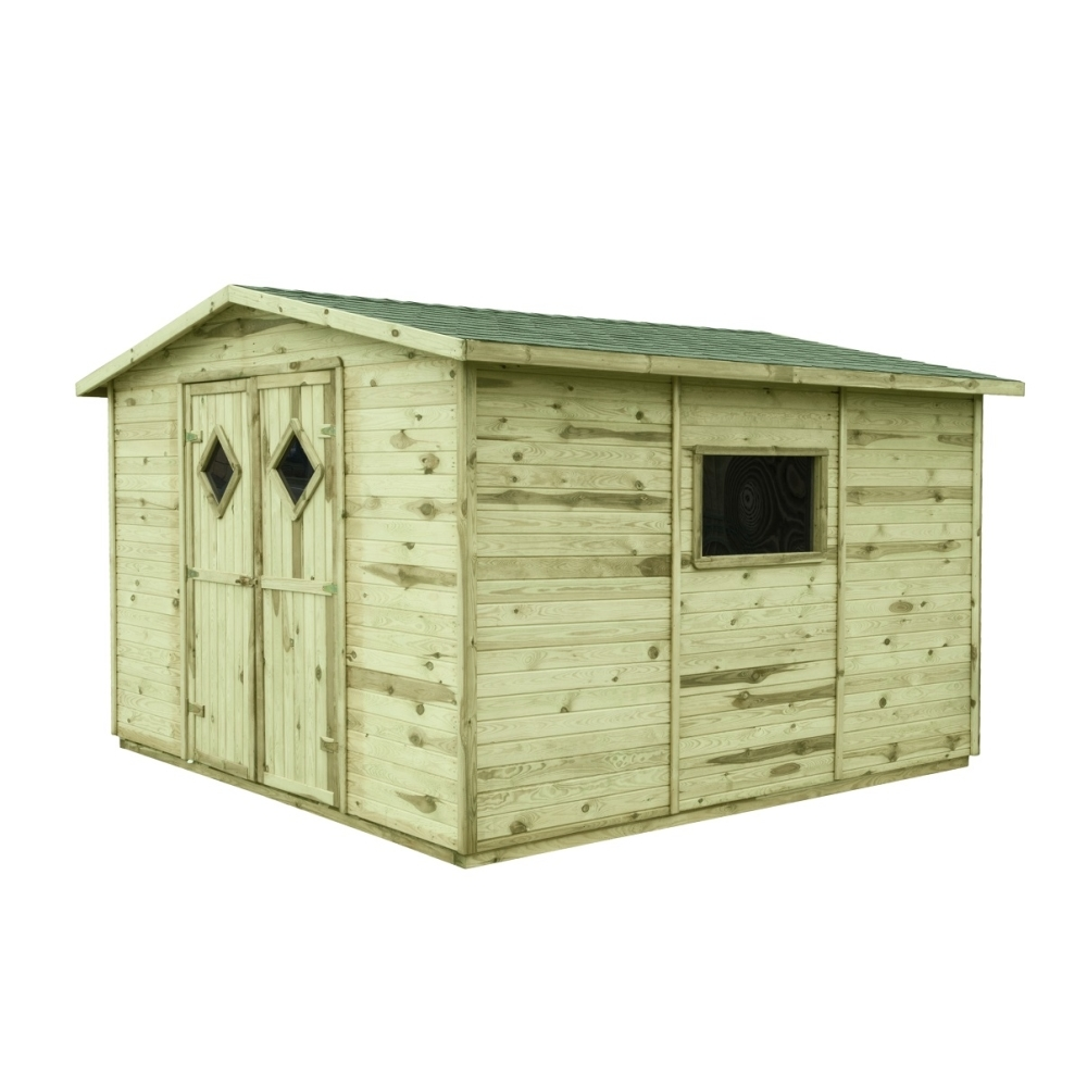 Gartenhaus Holz mit Boden COMBO 8,24m² 333x327cm