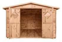Gartenhaus Holz mit Boden JUMBO 11m² 333x427cm braun