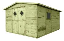 Gartenhaus mit Boden JUMBO 11m² 333x427cm
