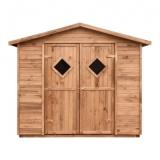 Gartenhaus mit Boden MAXI 5m² 264x262cm braun