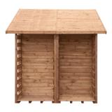 Gartenhaus mit Brennholzregal EXCLUSIVE 259x213cm braun