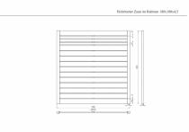 Sichtschutzzaun 180x180x4,5cm