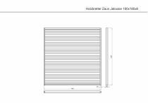 Sichtschutzzaun 180x180x6cm