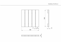 Holzfliese 30x30x2,4cm