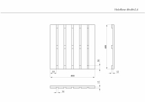 Holzfliese 40x40x2,4cm