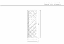 Holzgitter 180x60cm mit Rahmen 25