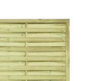 Lamellenzaun Holz 180x180x3,5cm