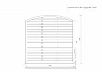 Lamellenzaun mit Bogen 180x180x3,5cm