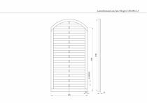 Lamellenzaun mit Bogen 180x90x3,5cm