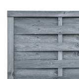 Lamellenzaun Holz 180x90x2,5 cm grau