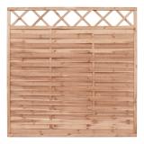 Lamellenzaun Holz Gitter 180x90x2 cm braun