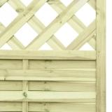 Lamellenzaun Holz Gitter 180x90x2,5cm