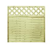 5x Lamellenzaun Holz Gitter 180x180x2,5cm