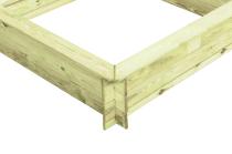Sandkasten ohne Abdeckung 120x28x120cm