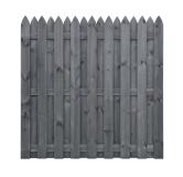 Holzbretter Zaun HOLENDER 180x180x5 grau