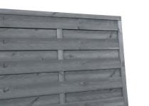 Sichtschutzzaun 180x180x3x3cm grau