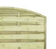 Sichtschutzzaun Bogen 180x180x3x4,5 cm