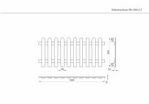 Lattenzaun 80x180x3,2cm